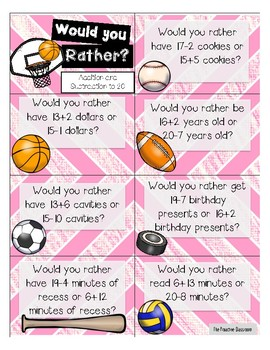 Math Warm Ups - Would You Rather?