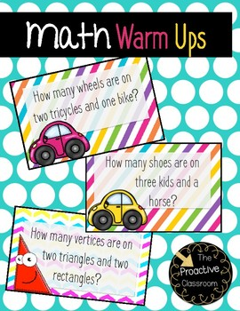 Math Warm Ups - for Mental Math and Problem Solving