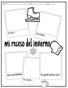 Winter Break Writing Activity in Spanish & English