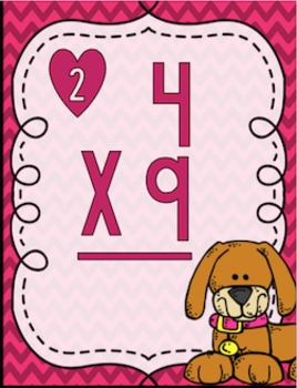 Multiplication Puppy Love Task Cards
