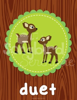 Music Decor- Ensemble Groups (Woodland Animals)
