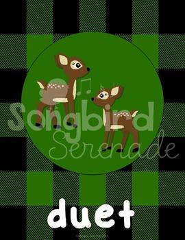 Music Decor- Ensemble Groups (Woodland Animals)