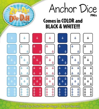 Nautical Anchor Dice Clip Art Set — Over 40 Graphics!