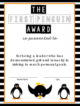 Penguins: A Craftivity on Taking Risks and Setting Goals