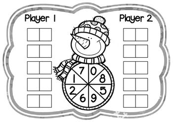 Place Value Game- Picking Places Winter Theme