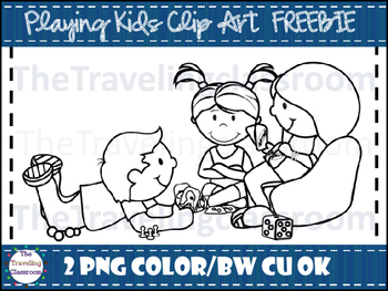 FREE Playing Kids Clip Art