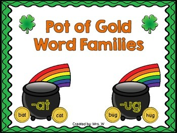 Pot of Gold Word Families - St. Patrick's Day Literacy Center