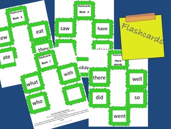 Monster Themed Primer Readers: Flashcards of Dolch words and 3 books