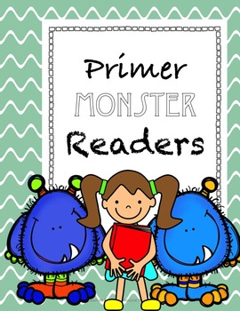Monster Themed Primer Readers: Flashcards of Dolch words a