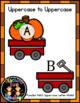 Pumpkin Patch Uppercase Letter Match File Folder Activity Fall/Autumn