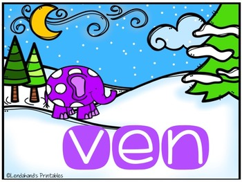 Winter Nonsense Word Fluency R.T.I. Power Point (Winter Elephant Theme)