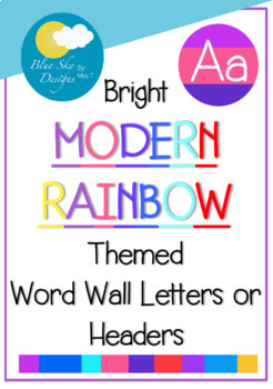 Rainbow Word Wall Letters