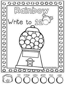 Rainbow Write to 100- Number Sense Activities!