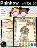 Rainbow Write to 100- Number Sense Activities! -Count to 100 Gumball Theme