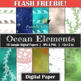 FREEBIE! | Ocean Elements Digital Paper {PaezArtDesign}