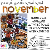 November Second Grade Literacy Centers