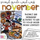 November Second Grade Literacy Centers