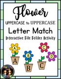 Spring/Summer Flower Uppercase Letter Match File Folder Activity
