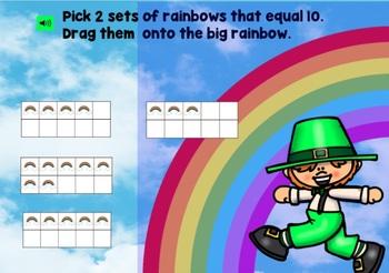 St. Patrick's Day Math Kindergarten 1st Grade Boom Cards