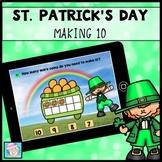St. Patrick's Day Math Kindergarten 1st Grade BOOM CARDS MATH