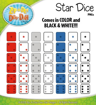 Star Dice Clip Art Set — Over 40 Graphics!