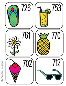 Summer Sequencing Numbers to 1,000 --Build Number Sense!