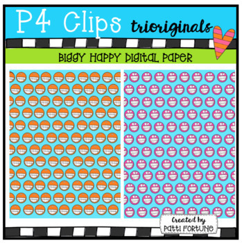 Biggy Happy Digital Paper (P4 Clips Trioriginals)