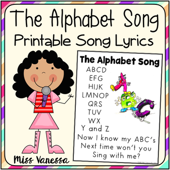 The Alphabet Song Printable Lyrics