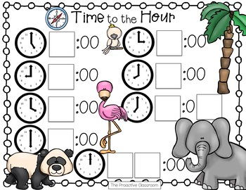 Time to the Hour and Half Hour Number Tiles / Marcy Cook Tiles
