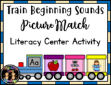 Train Beginning Sounds Picture Match Literacy Center Activity