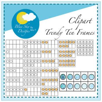 Ten Frames Clip Art