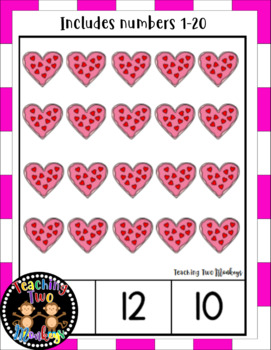 Valentine's Day Cupcake and Cookie Clip Cards (Numbers 1-20)