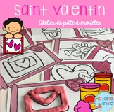 FRENCH Valentine's day Playdough mats/ St-Valentin à modeler