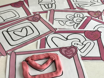 FRENCH Valentine's day Playdough mats/ St-Valentin à modeler