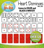 Valentine's Day Heart Dominoes Clipart {Zip-A-Dee-Doo-Dah Designs}