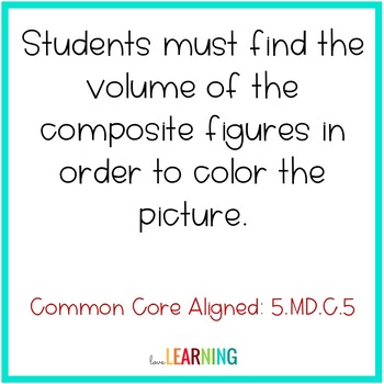 Volume of Composite Figures Color-by-Number
