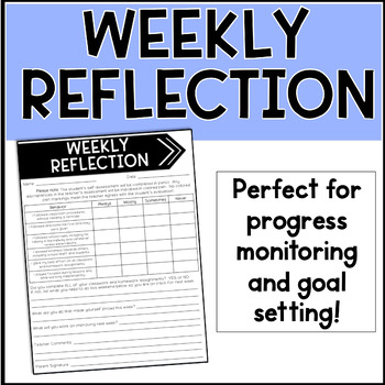 Weekly Reflection Form