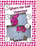 What Time Is It, Valentine? Telling Time Activites - Elapsed and Five Minute