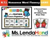 Winter Nonsense Word Fluency BLACKOUT Bingo RTI Resource