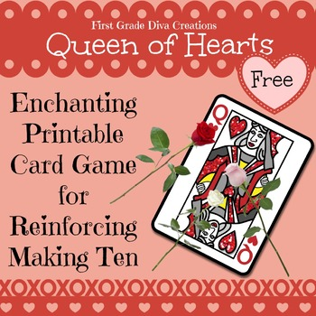 FREE Queen of Hearts {A Printable Card Game for Valentine's Day}