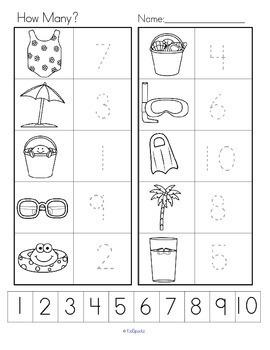 SUMMER Count the Room Differentiated Center for Preschool & Kindergarten