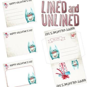 12 Valentine's Day cards + 4 envelopes ❤ CUT FOLD & GLUE