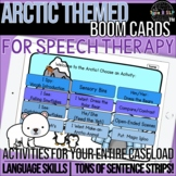 Arctic Themed Boom Cards™ for Speech Therapy with Sentence Strips