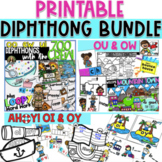 Diphthong Bundle - Only the PRINTABLES! OO, EW, OU, OW, OI, OY