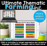 Distance Learning for Speech Therapy: Ultimate Thematic FARM UNIT