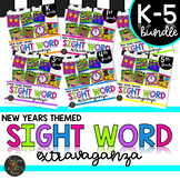 Color by Code Sight Word Activities New Years K-5th Differentiated