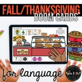 Fall Thanksgiving Boom Cards™ for Speech Therapy   Sentence Strips