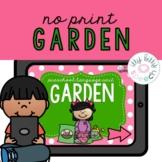 Garden Preschool Language Unit NO PRINT (Distance Learning)