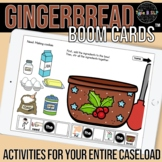 Gingerbread Boom Cards™ for Speech Therapy with Sentence Strips