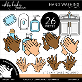 Hand Washing - Outlined [Ashley Hughes Design]